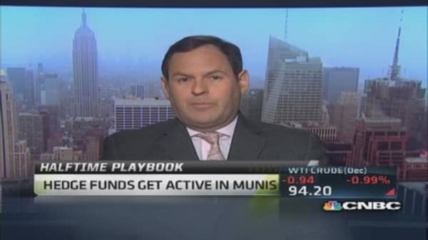 Hedge funds get into munis