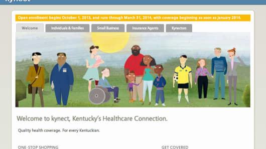 Kentucky's health exchange website Kynect.