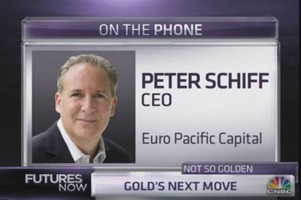 Schiff: Gold will go 'straight up'