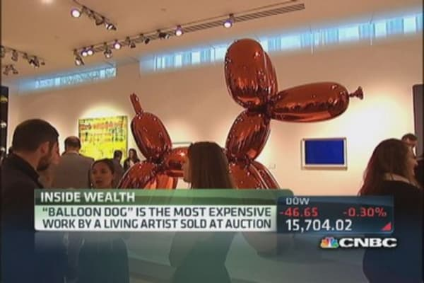 Most expensive painting at an auction sold
