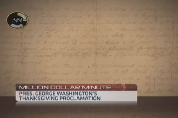 Piece of Thanksgiving history worth millions