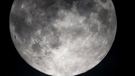Section of a full moon