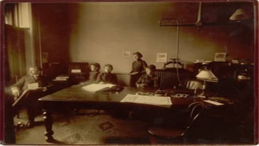 Employees of the National Life Insurance Company in 1891