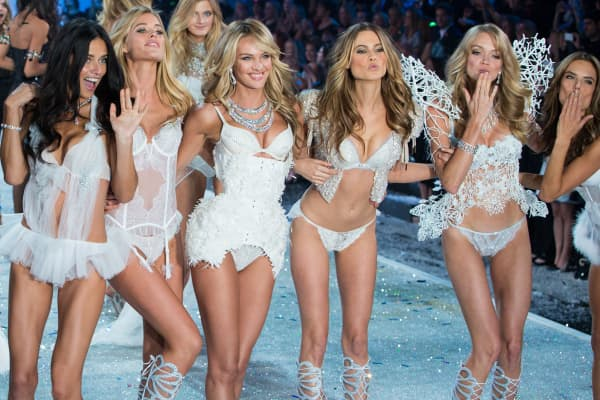 Victoria's Secret models during the finale of the 2013 Victoria's Secret Fashion Show in New York.