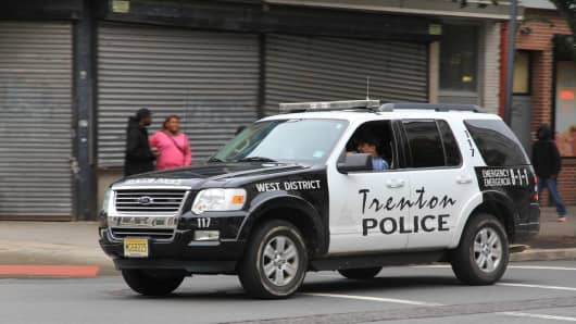 In crisis: Trenton police on patrol in the Garden State's capitol