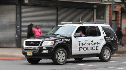 In crisis: Trenton police on patrol in the Garden State's capitol