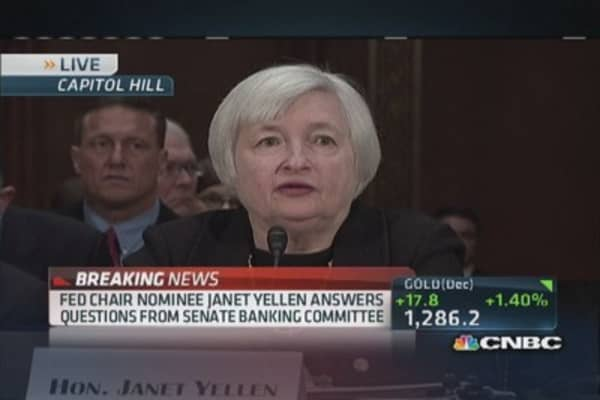 Don't see evidence of asset bubbles: Yellen