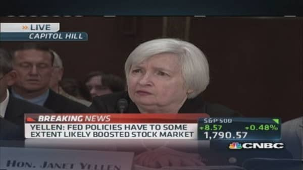 Low interest rates 'broadly beneficial': Yellen