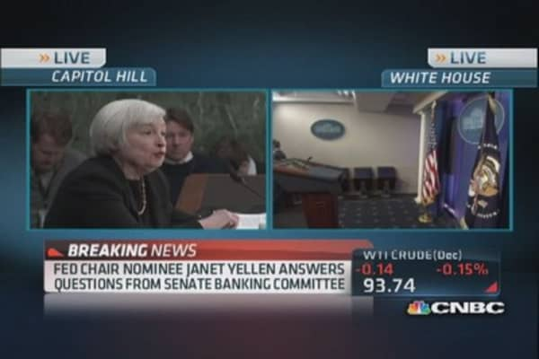 Yellen addresses hard hit real estate areas