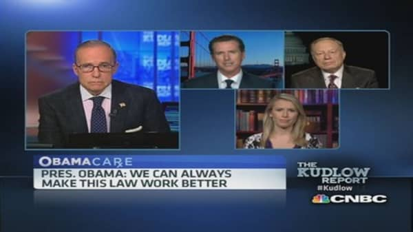Obamacare is mess: Gov. Newsom