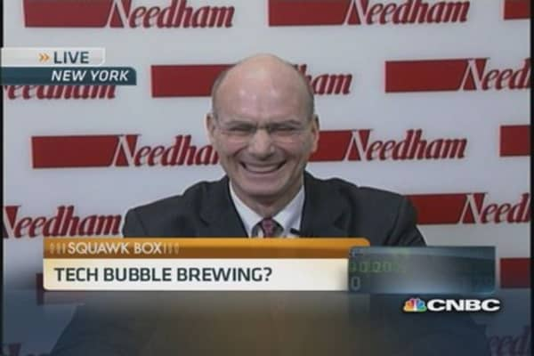 Tech bubble brewing?