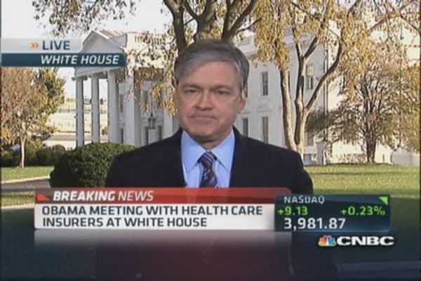 Pres. Obama meeting with insurance executive