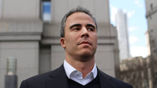 SAC Capital Advisors portfolio manager Michael Steinberg walks out of a New York courthouse after being charged by U.S. prosecutors with engaging in insider trading on March 29, 2013 in New York City.