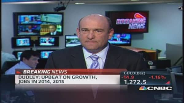 NY Fed Pres. Dudley upbeat on growth