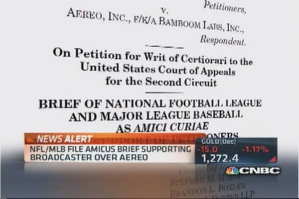 NFL and MLB file brief against Aereo