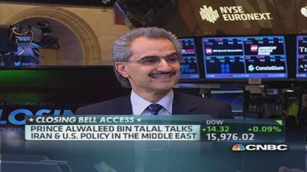 Prince Alwaleed: NSA spying was extraordinary and unneeded