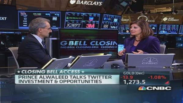 Prince Alwaleed: Twitter is a rising star