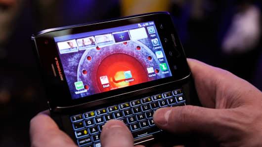 Motorola Droid 4 smartphone.