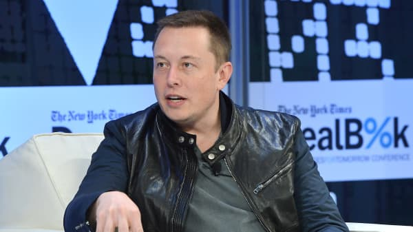 Tesla CEO Elon Musk at the 2013 New York Times DealBook Conference
