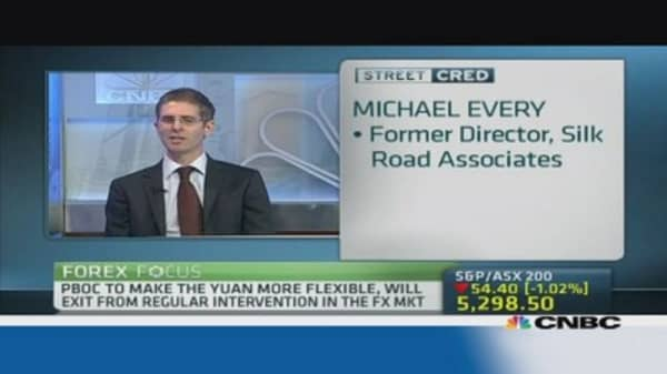 RMB will move to a managed float: Pro