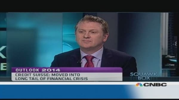 No huge acceleration in 2014 global growth: Credit Suisse