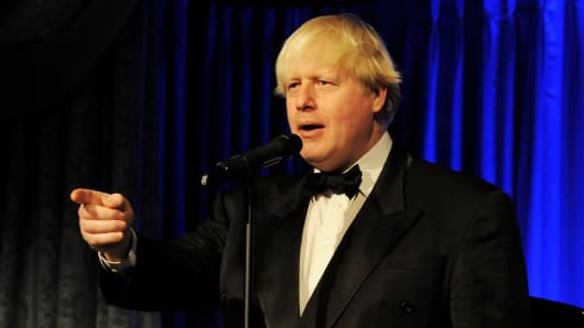 London Mayor Boris Johnson
