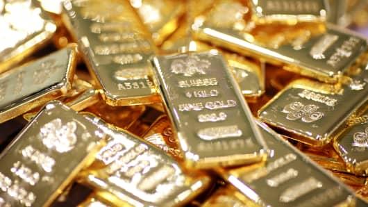 File photo: One-kilogram bars of gold.