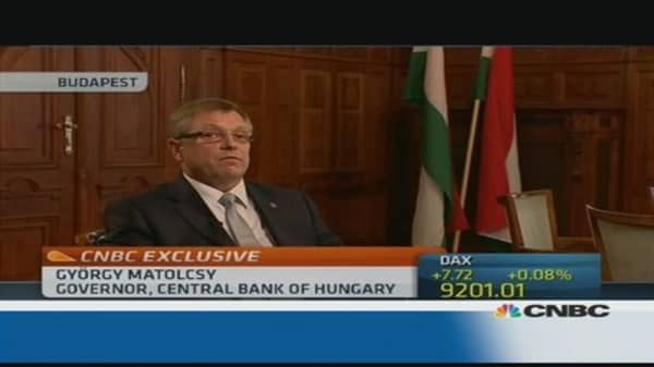 Inflation is our only target: Hungary central bank chief