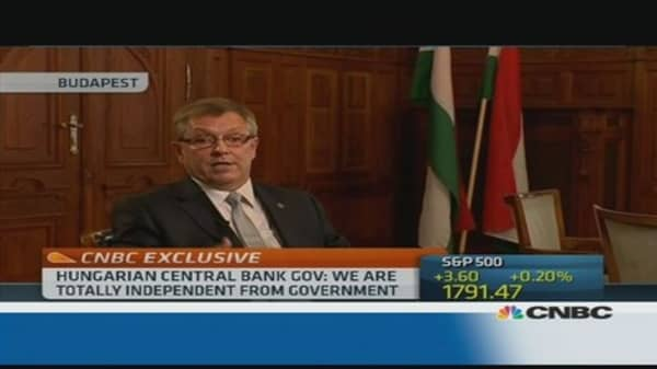Hungary's central bank is 'independent': Governor