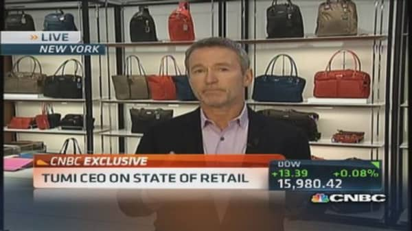 Tumi CEO: Consumers range between luxury & average