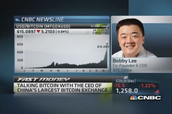 Bitcoin world domination 'a bumpy ride': CEO