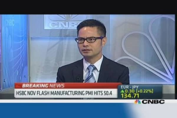 China flash PMI shows fading stimulus effect