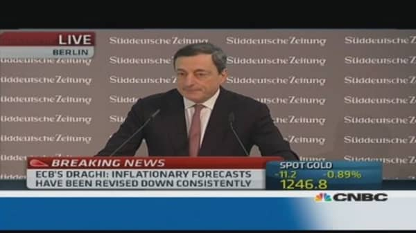 Nothing new on negative rates: Draghi