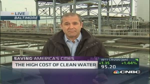 High cost of clean water
