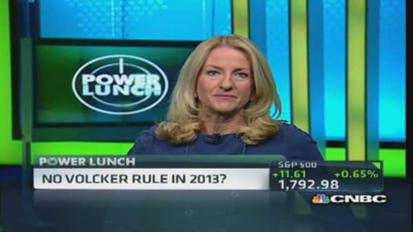No Volcker rule in 2013?