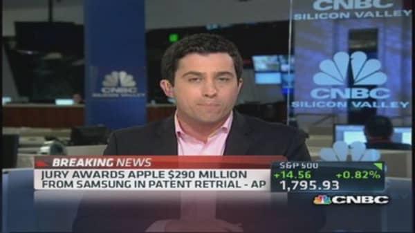 Samsung owes Apple $290 million