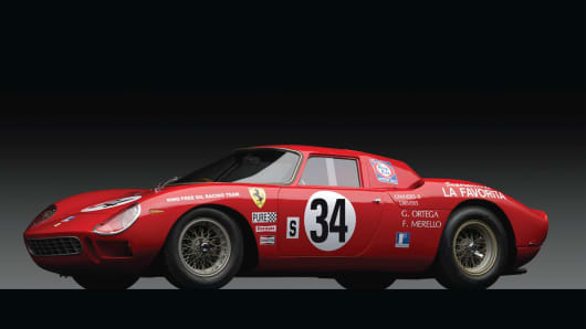 1964 Ferrari 250 LM sold for $14million during an auction at Sotherby's.