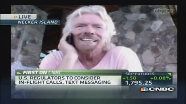Branson: Likely to have 'talking cabins' on flights