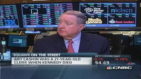 Cashin: Selling was 'heavy & hectic' after JFK's assassination