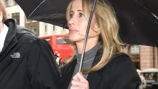 Michelle Young, the estranged wife of property tycoon Scot Young, arrives at the Royal Courts of Justice in London on Nov. 13, 2009.