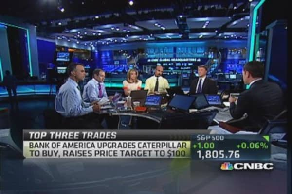 Top three trades: YHOO, AA & CAT