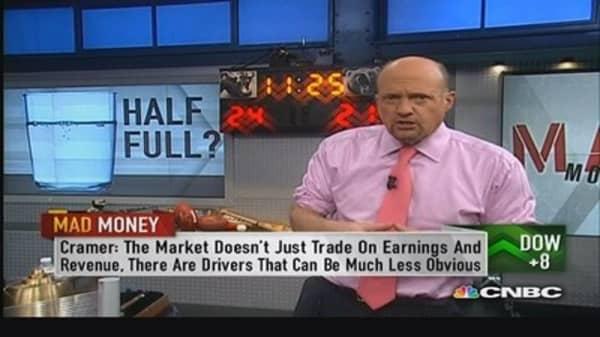 Glass-half-full market: Cramer
