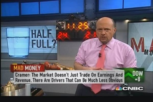Glass-half-full market: Cramer