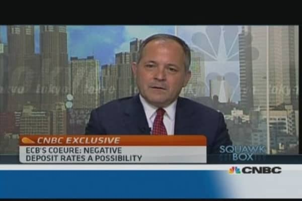 Negative deposit rate is a possibility: ECB's Coeure