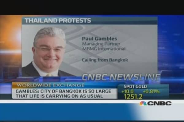 Thailand: 'Tensions are easing'