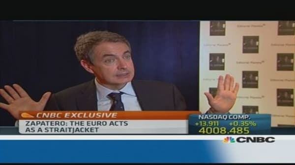 The euro was a 'straightjacket': Zapatero
