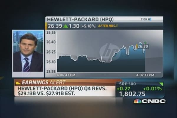 HP reports Q4 earnings beat