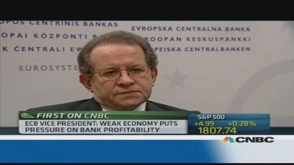 ECB: Financial 'stress' has fallen