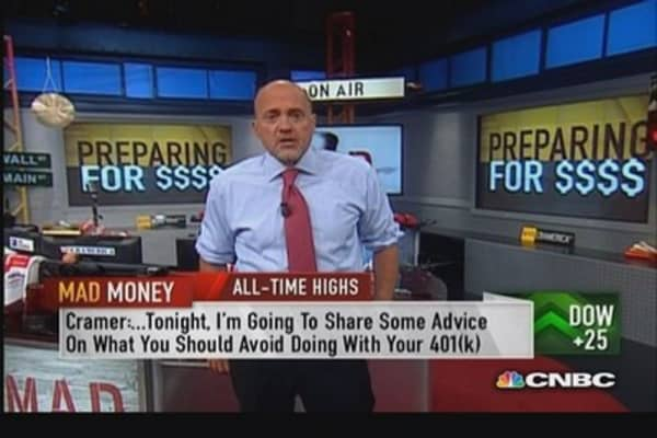 Don't put savings in same basket as paycheck: Cramer