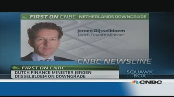 We take rating downgrade 'seriously': Dutch Fin Min